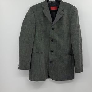 Hugo boss gray pinstripe sport suit coat.